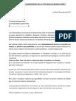 Carta de Farmacéuticos a la Gobernadora Vidal
