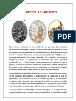 Empresa Historia y Etapas Clasificacion Sociedades