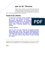 Prayer to St.therese