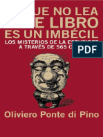 El Que No Lea Este Libro Es Un Imbécil - Oliviero Ponte Di Pino