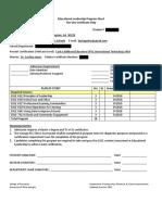 tier 1 program sheet