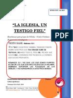 2018 Mes 04 Dia 22 -r. Celulas - La Iglesia Un Testigo Fiel - Diacono Christian Navarro