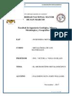 Informe 1 Materiales Microscopio Metalográfico
