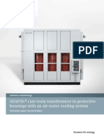 GEAFOL Cast Resin Transformers in Protective Housings With an Air Water Cooling System En
