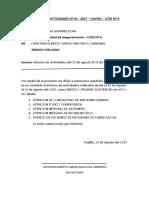 Informe de Actividades Nº 01 Medico
