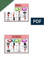 Cartones Bingo Infantil ajedrez