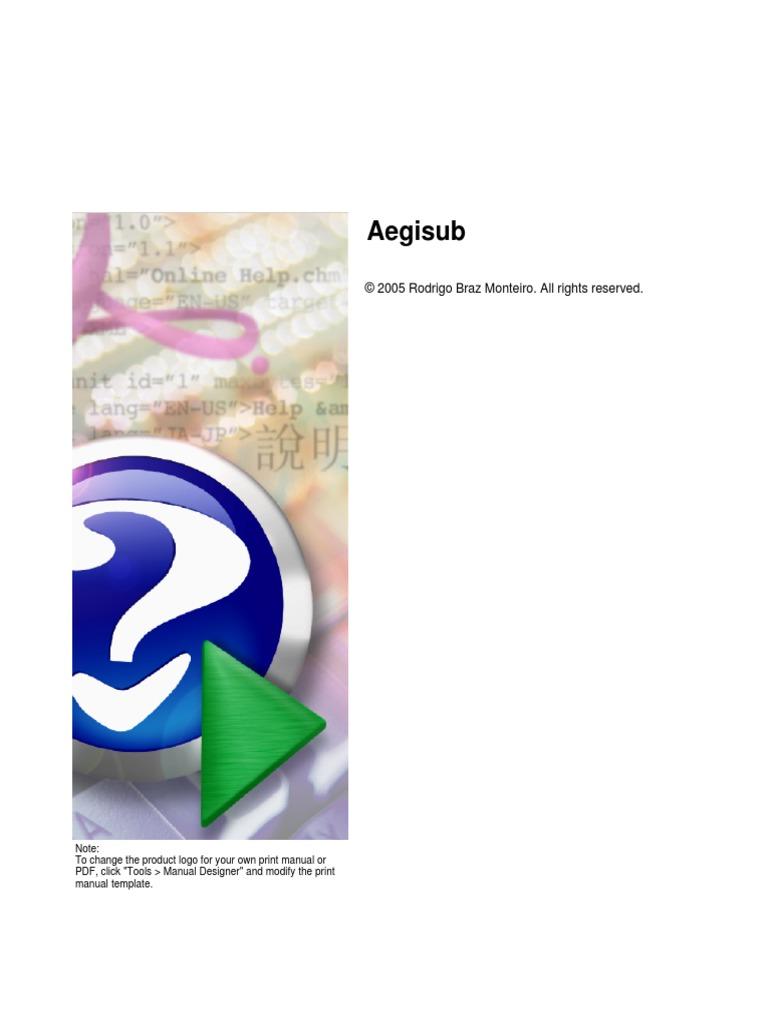 Aegisub Manual pdf   Source Code   Computer Keyboard