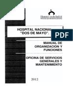 MOF of Servicios Generales 2012-Arzobispo Loayza