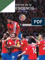 Informe de La Presidencia 2016-2017