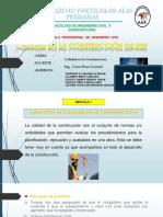 Calidad de La Construccion Norma GE 030 Articulo 1 - 4