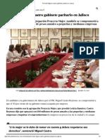 26-04-18 Promete Miguel Castro gabinete paritarioen Jalisco