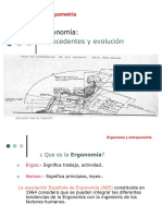 Ergonomia Antecedentes y Evolucion