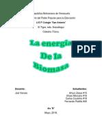 La Energia de La Biomasa