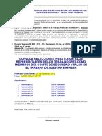 Convocatoria Elecciones Del Comite SST