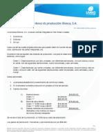 Costeo Por Órdenes de Producción Bianca, S.A1