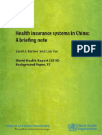 Health insurance systems in China