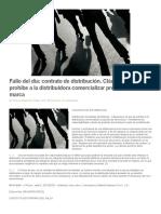 4. Contrato de Distribucion y La Prohibicion de Comercializar Productos de o