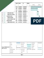 Cronograma de Fabricacion de Anaquel - Pdv Baterias y Servicios Eirl - Tacna - 2018
