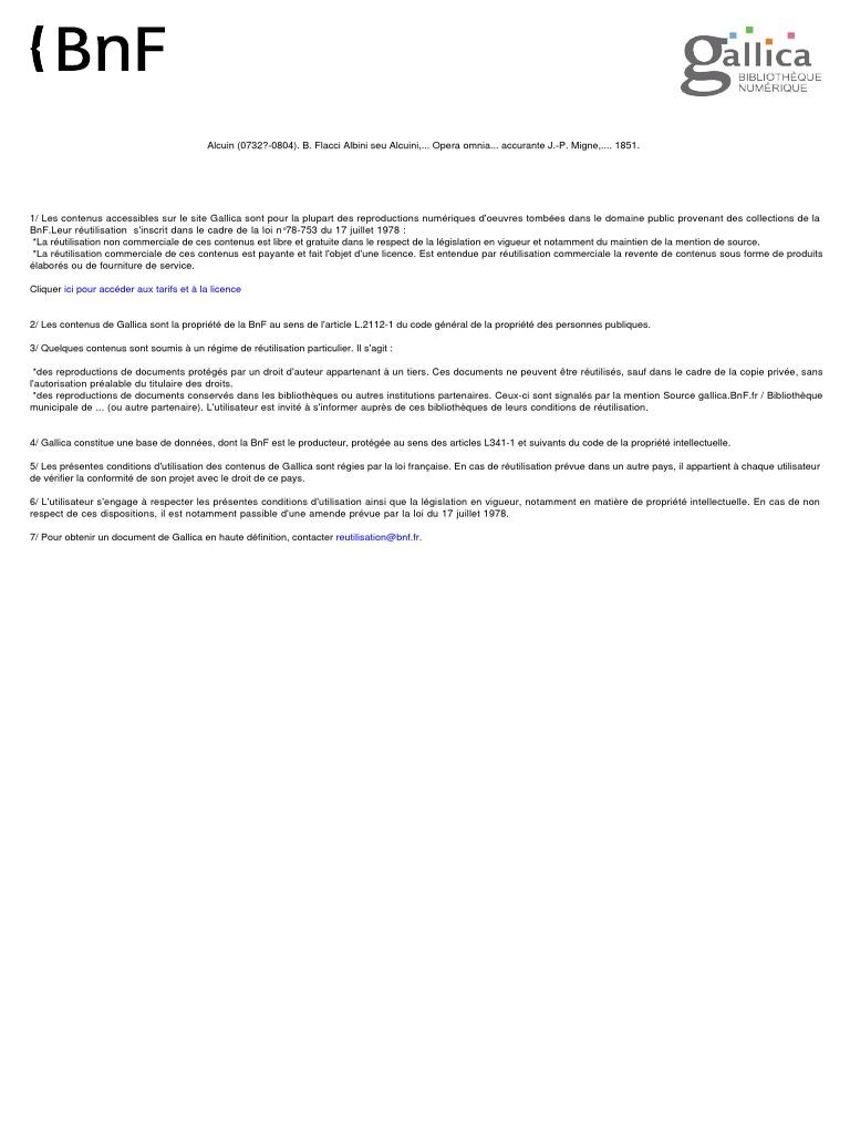 100 Migne Patrologia Latina Tomus C Principes Ethiques Droit Des Biens