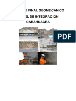 Geomecanica Carahuacra Tunel