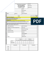Ip Control Valve Calibration Form