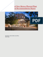 university of new mexico physical plant department recommendations report