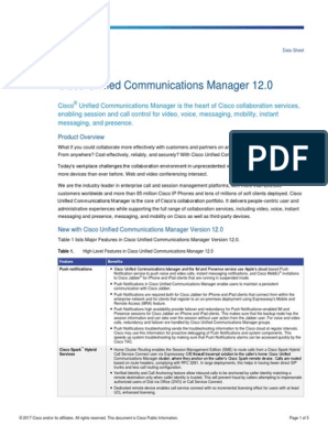 CPB - Ordering Guide - CUCM 12 0 pdf   Instant Messaging