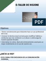 Seminario Higiene Vocal