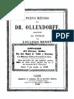 Metodo Del Dr Ollendorff Para Aprender a Leer Hablar y Escribir Un Idioma Cualquiera