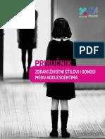 Zdravi Zivotni Stilovi i Odnosi Medju Adolescentima Prirucnik