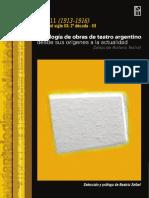 2016.Antologia Teatro Argentino T11 Seibel