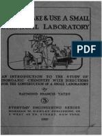 Small Chemical Laboratory 1920.