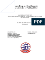 Pressure Drop and Heat Transfer Characteristics of Fluidized Bed
