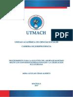 Procedimiento para la solución del abordaje marítimo según los convenios internacionales y la legislación Ecuatoriana