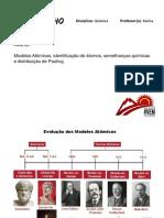 Aula 02_Modelos at, Estrutura Atômica, Diagrama de Pauling e Semelhanças Quimicas