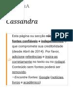 Cassandra – Wikipédia, A Enciclopédia Livre
