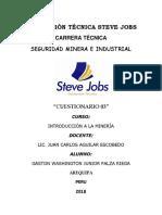 Cuestionario 03 - Int. Minera