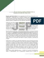 Declaración Presidenta de la JEP DEFINITIVO - Abril 26 de 2018