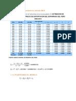 Estimación Parámetros Método MCO