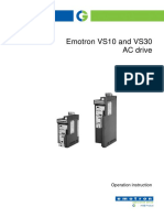 Emotron VS10-30 Operation 01-6203-01r1 En