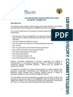 Greater Blue Mountains World Heritage Advisory Committee Information Sheet