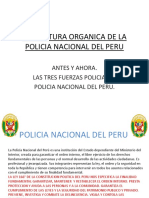 Estructura Organica de La Policia Nacional Del Peru