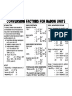 Conversion Factors Rn