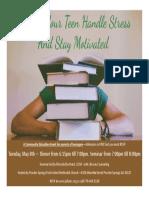 teen stress seminar flyer