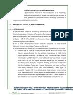Revision de Las Especificaciones Tecnicas y Ambientales