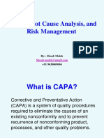 CAPA, Root Cause Analysis, and Risk Management (1).ppt