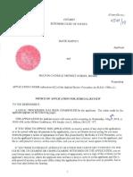 HCDSB Notice of Application