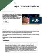 Attestation d Emploi Modele Et Exemple de Lettre 23434 Npoftk