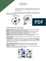 Hardware y Software- Perifericos- Dispositivos de Almacenamiento- Tipos de Memoria