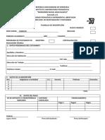 Planilla de Inscripción Postgrado